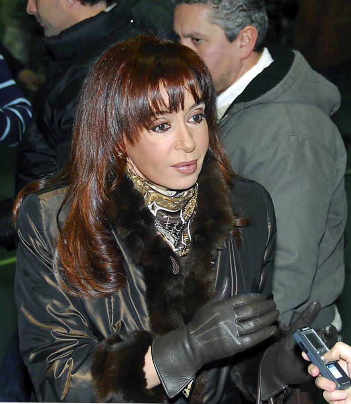 first lady Cristina Kirchner, before she became the first elected woman President of Argentina.