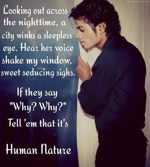 Human Nature Michael Jackson Lyrics Traduction