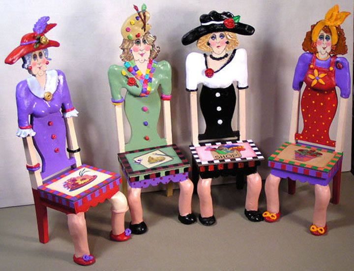 Handmade and painted art chairs