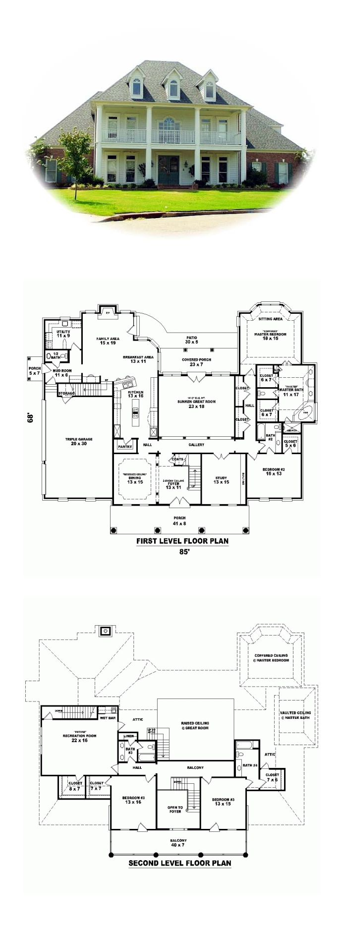 50 best images about plantation house plans on pinterest for Plantation floor plan