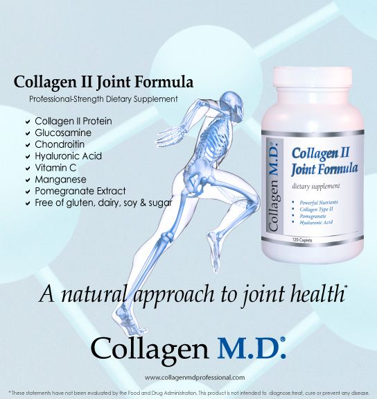In the body, hyaline cartilage is a compressed type of connective tissue present in joints.* Professional-strength, Collagen II Joint Formula dietary supplement with 18 amino acids, hyaluronic acid, vitamin C, manganese and pomegranate extract helps support the natural mechanisms that promote cartilage and joint health.* Made in California under strict cGMP guidelines and free of gluten, dairy, sugar and soy. #CollagenMD #CollagenMDProfessional #NMD #Athlete