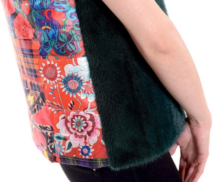 Stunning details of this mink fur vest of our Lemon series.