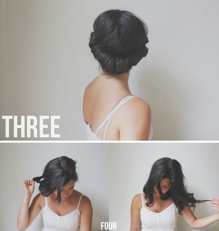 Hair tutorial // quick & easy curls — Treasures & Travels.....looks cute in the headband and as curls! Could do daytime then night