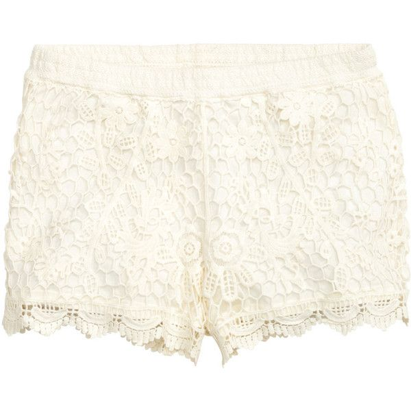 Blondeshorts 179.- ($25) ❤ liked on Polyvore featuring h&m and white jersey