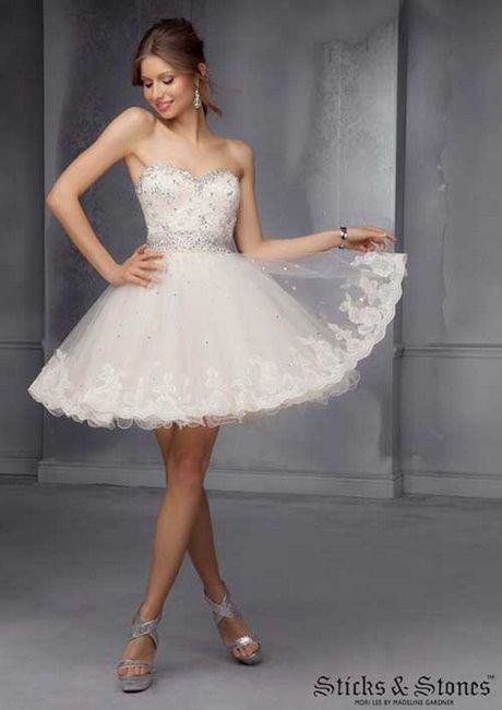 82287e32d Vestidos de fiesta cortos color blanco
