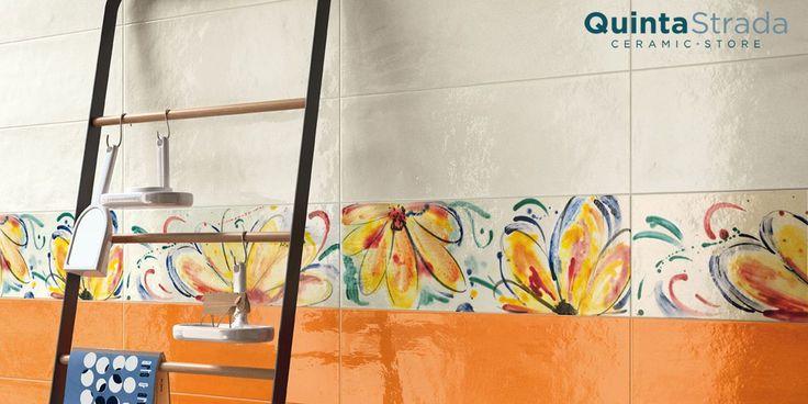 Questa serie di rivestimenti da bagno, riprende tutte le esplosioni timbriche del mediterraneo: i colori caldi del tramonto e quelli vivaci del mare.