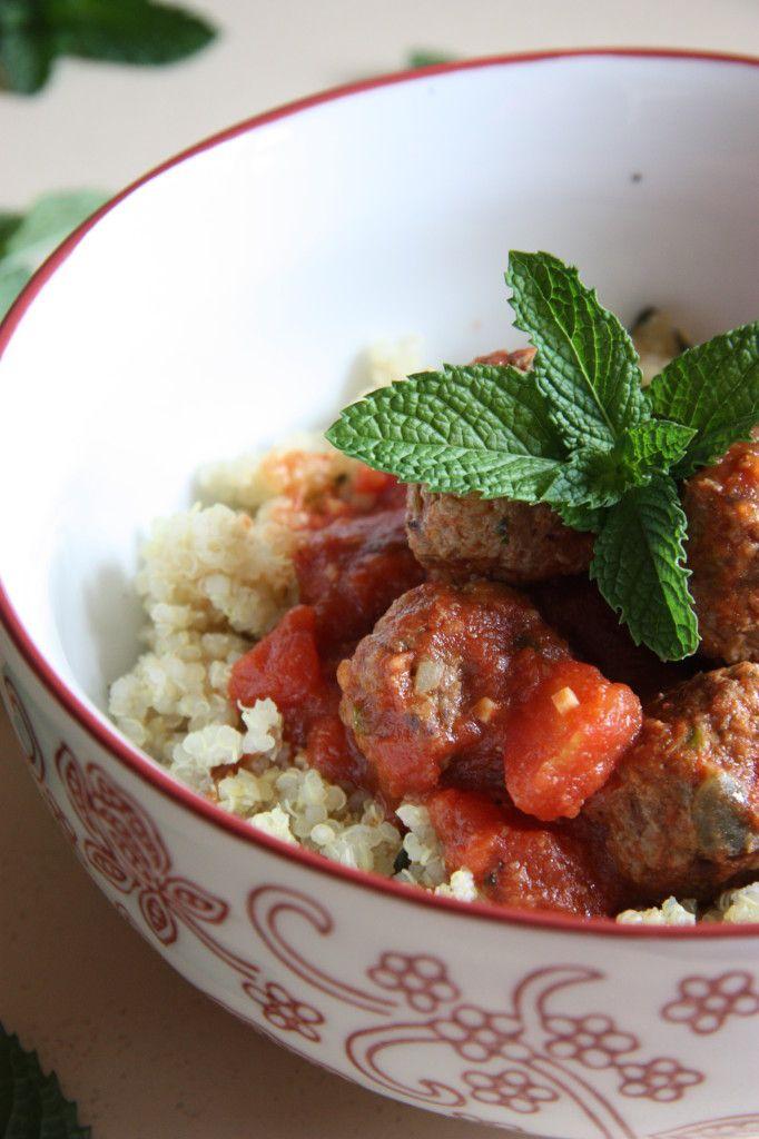 Moroccan Gluten Free Meatballs with Quinoa Recipe... Mmmm, delicious!