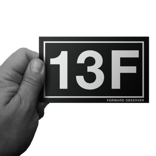 ARMY-MOS-13F-FORWARD-OBSERVER-F-O-FiST-WINDOW-OR-BUMPER-STICKER-by-Inkfidel
