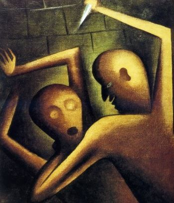 Jan Zrzavý - Murder (1920) #painting #art #Czechia