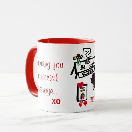 Special Valentine Love Hearts Office Desk Mug | Zazzle.com