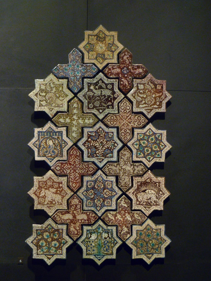 Islamic tile, The Louvre #naturalarearugs.com #flooring