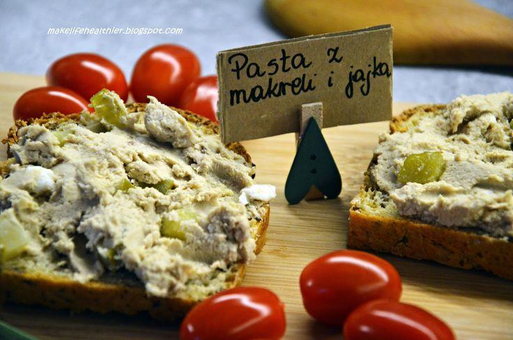 Coś do chleba - pasta z makreli i jajka   Make life healthier