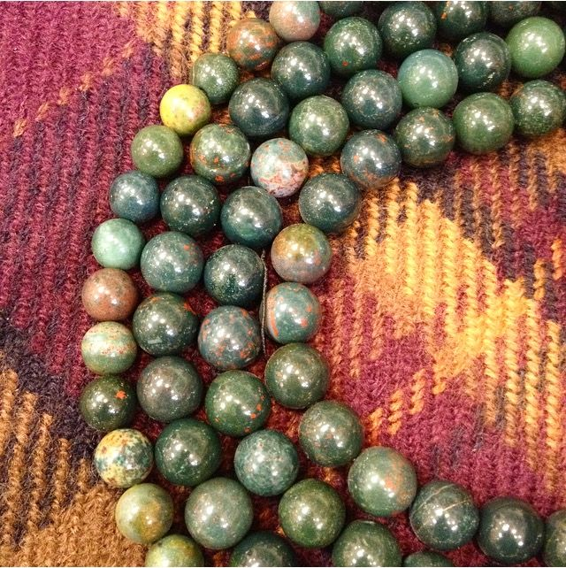 Here is our Gemstone of the day - BLOODSTONE Find yours on our website www.beadhouse.co.uk