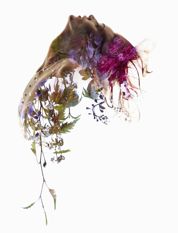 Beautiful, Double-Exposure Shots That Blend Images Of Women And Flowers. By Sølve Sundsbø.