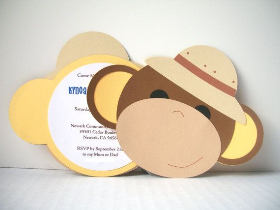 Hey, I found this really awesome Etsy listing at http://www.etsy.com/listing/107460145/monkey-around-invitation-safari-hat