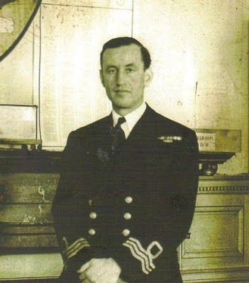 Commander Ian Fleming, author of the James Bond spy novels, taken during World War II