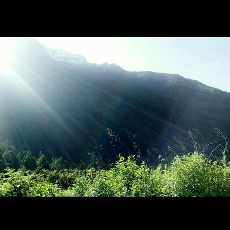 Beautiful sunrise at Lachung.