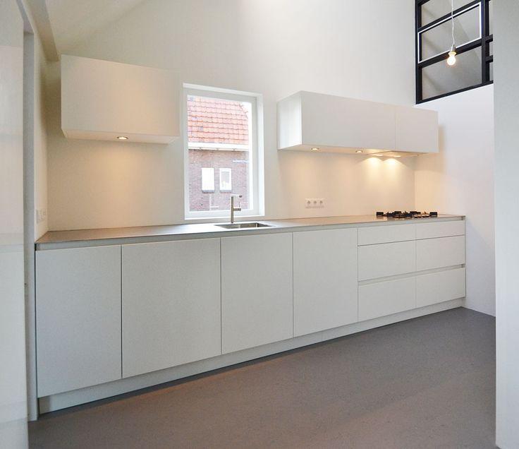 Keuken Wit Blad : Keuken op Pinterest – Keukens, Moderne Keukens en Keuken Enscenering
