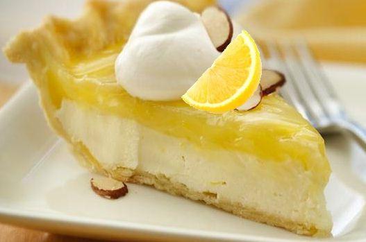 White Chocolate Lemon Pie with toasted almond garnish http://thegardeningcook.com/white-chocolate-lemon-pie/