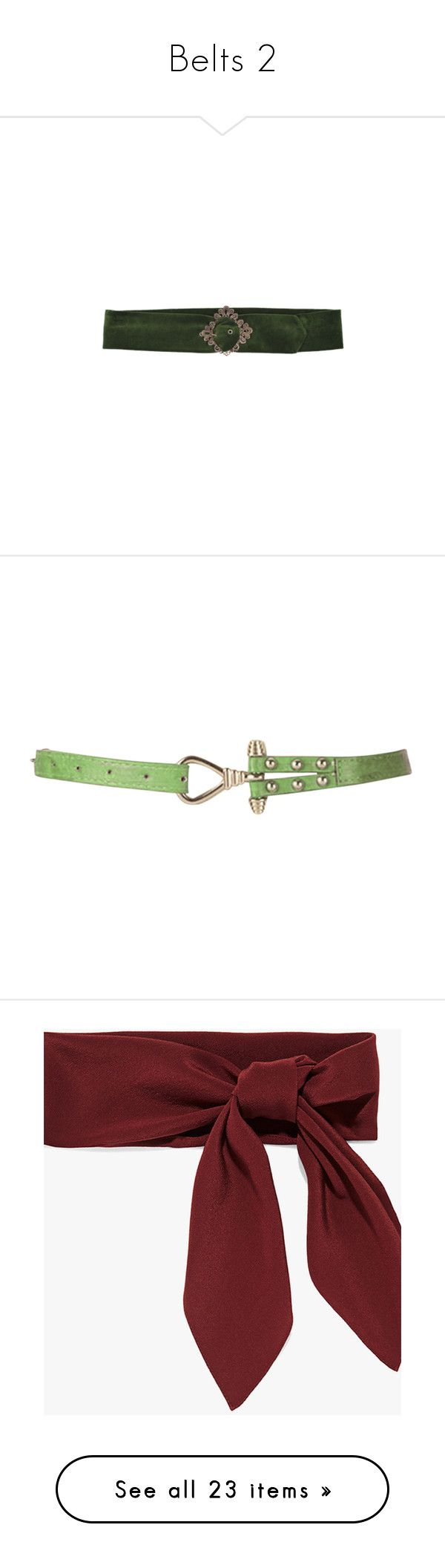 """""""Belts 2"""" by thesassystewart on Polyvore featuring belts, accessories, classic, green, anchor buckle belt, wide buckle belt, buckle belt, thick belt, green belt and scarves"""