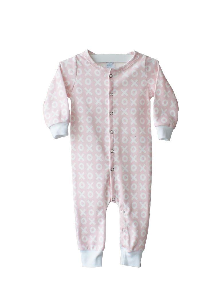 Organic Cotton Pink XO Sleeper by little CITIZENS.
