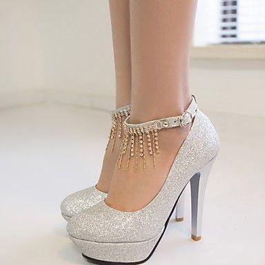 Sepatu Pernikahan - Hak Tinggi - Wanita - Pernikahan / Kantor & Karir / Pesta & Malam - Hak Tinggi / Platform - Merah / Perak / Emas – AUD $ 50.04