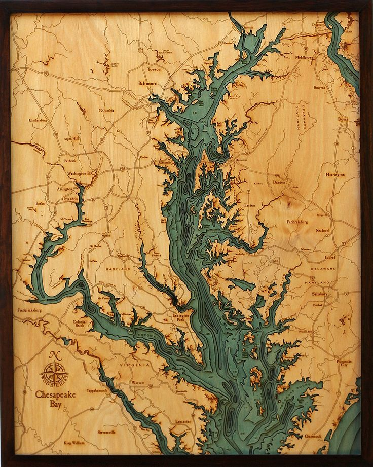 Maryland Map Coordinates%0A Chesapeake Bay