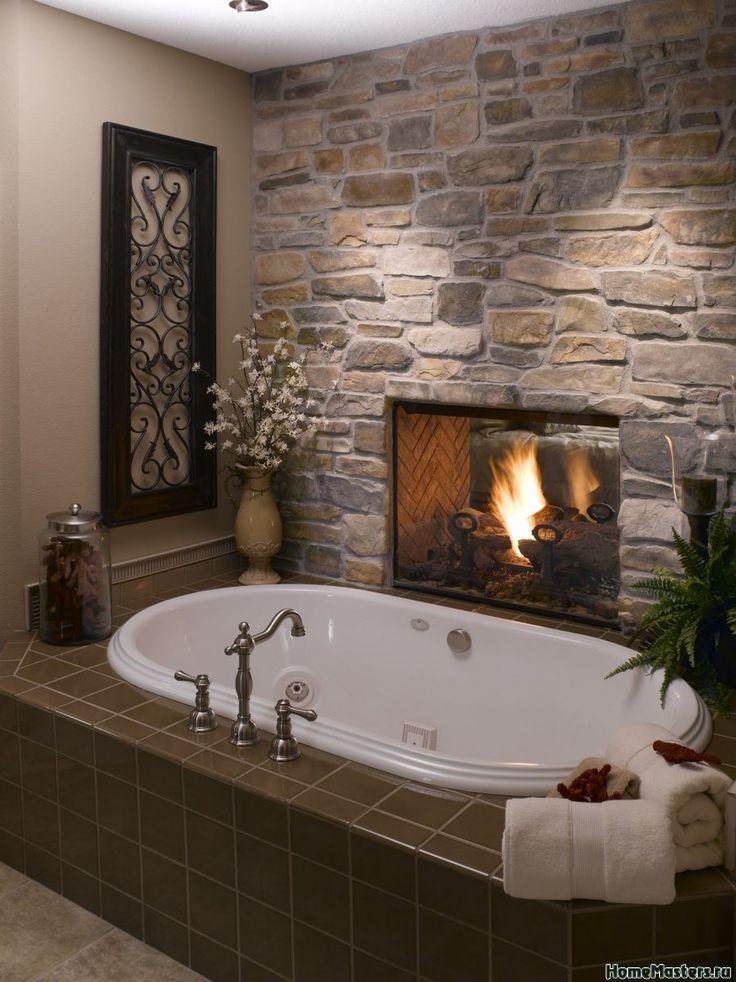 Ванная с камином | Дизайн ванной комнаты | Фотогалерея ремонта и дизайна | Школа ремонта. Ремонт своими руками. Советы профессионалов