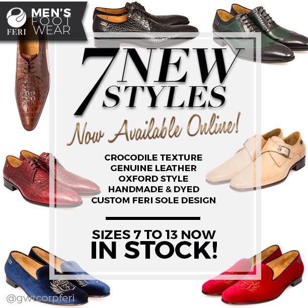 NEW PRODUCT RELEASE: 7 New Styles have finally arrived for the FERI Men's Footwear Collection!