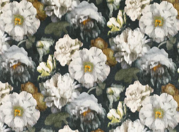 Herbaria from Black Edition is a contemporary interpretation of still-life paintings in a decadent diffused floral design. Digitally printed on indulgent velvet, Herbaria features vibrant flashes of color that enrich the beauty of the fabric.