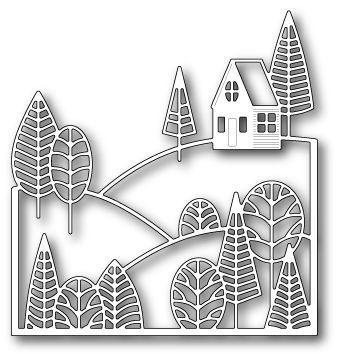Boddington Hillside, #poppystamps, #poppy, #die, #craft, #house, #border…