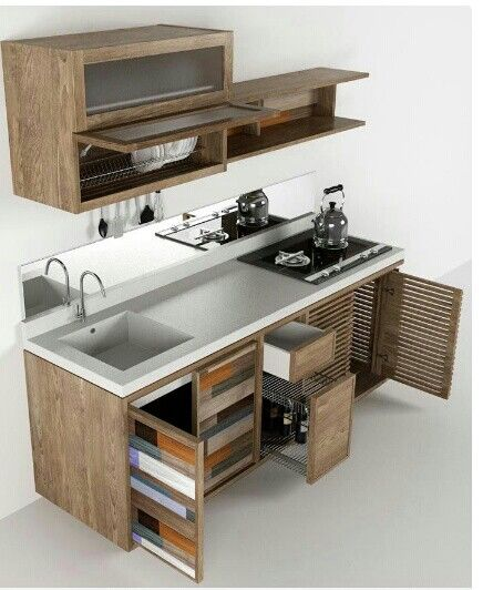 Love this simple and functional kitchen  Picture from Studiovisual12.net