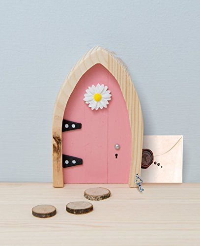 The Irish Fairy Door Company - Fairy Door (With Interactive Online Content) (Pink Arched)