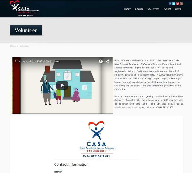 17 best Volunteer Forms images on Pinterest Website, Application - casa volunteer sample resume