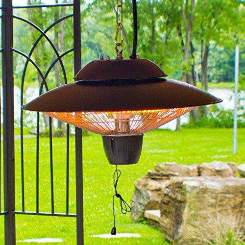 Ener G Indoor/Outdoor Ceiling Electric Patio Heater Black For Sale Https:/