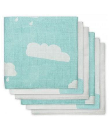Jollein многоцелевые муслин 70х70 см 6 шт. нефритовые облака  — 1650р.  Комплект многоцелевых пеленок 70х70 см 6 шт. Jollein сделан из мягкой дышащей ткани - муслина. Пеленки идеально подойдут для каждодневного использования: во время кормления, переодевания, в качестве пеленок-подгузников, легкого одеяла или накидки.