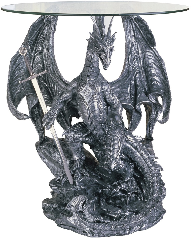 Dragon Lovers That Are Adding More Medieval Or Gothic Dragons To Their Home Decor Will Appreciate The Tables Shown Below