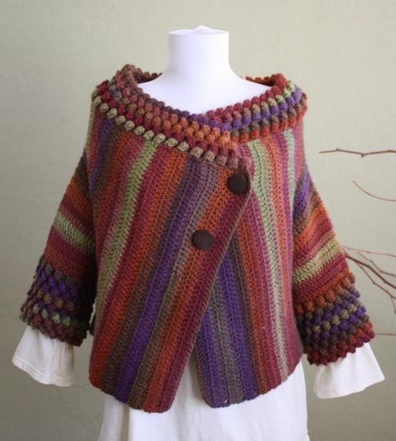 Crochet shrug pattern on Etsy
