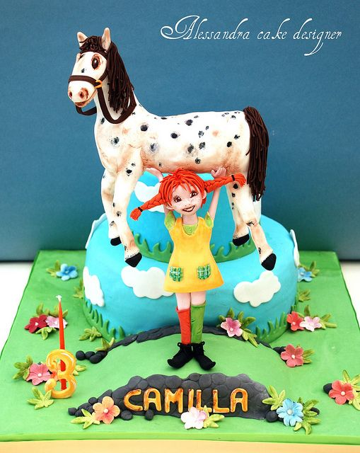 Pippi Calzelunghe Cake by Alessandra Cake Designer, via Flickr