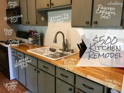 updating a kitchen on a budget 15 awesome cheap ideas - Low Budget Kitchen Remodel