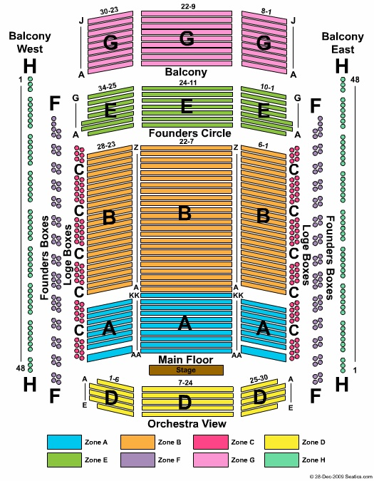 Schermerhorn Symphony Center Seating Chart Info Charts Nashville Ticket