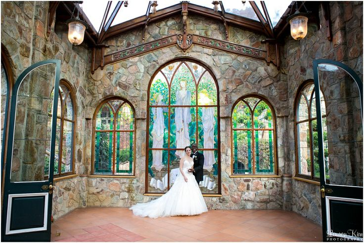 A stone chapel and stain glass windows - perfect for a wedding