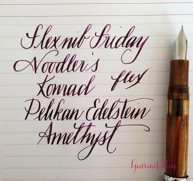 Ink Shot Review Pelikan Edelstein Amethyst @AppelboomLaren