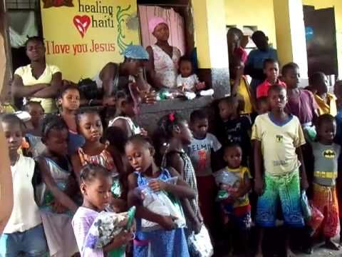 """I'm not sure, but I think these little ones, in Haiti, are singing and praying in French, their native language. And what the song sounds like, to me, is """"How Great Thou Are."""" ... Lord, in time, gradually bless them with all that they need, delivering them from sins, equipping them in your word, ensuring their clothing is fitting, and showing them good nutrition -- caring for them,  blessing them. ... Amen."""