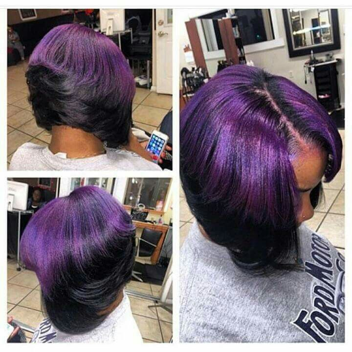 Cute purple bob!