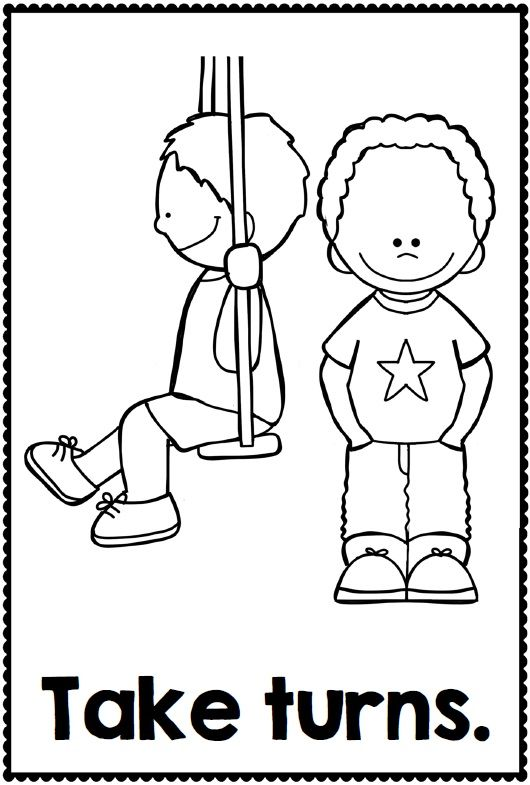 preschool good manners coloring pages - photo#11