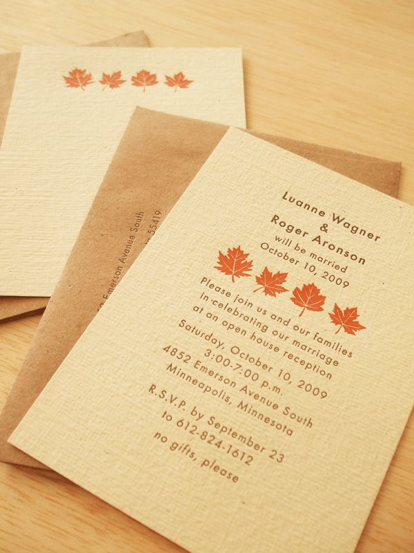 sister wedding invitation card wordings%0A Fall Wedding Theme  Wedding Invitation   Read more   http   simpleweddingstuff