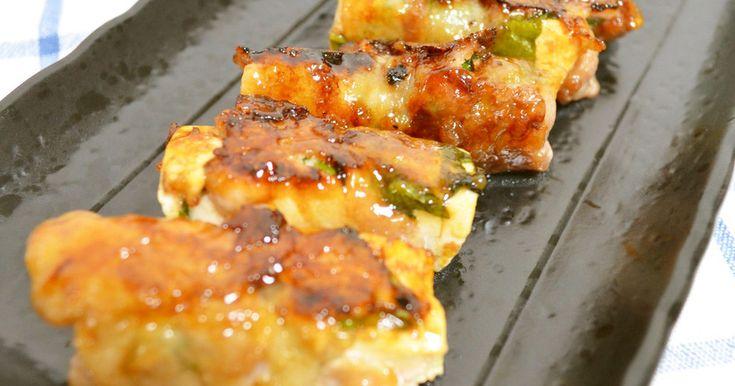 ヘルシーでかさ増しボリュームUPおかず♬大葉と豚肉よく合います。片栗粉でカリッと中ふんわりジューシー♬ご飯に合う!