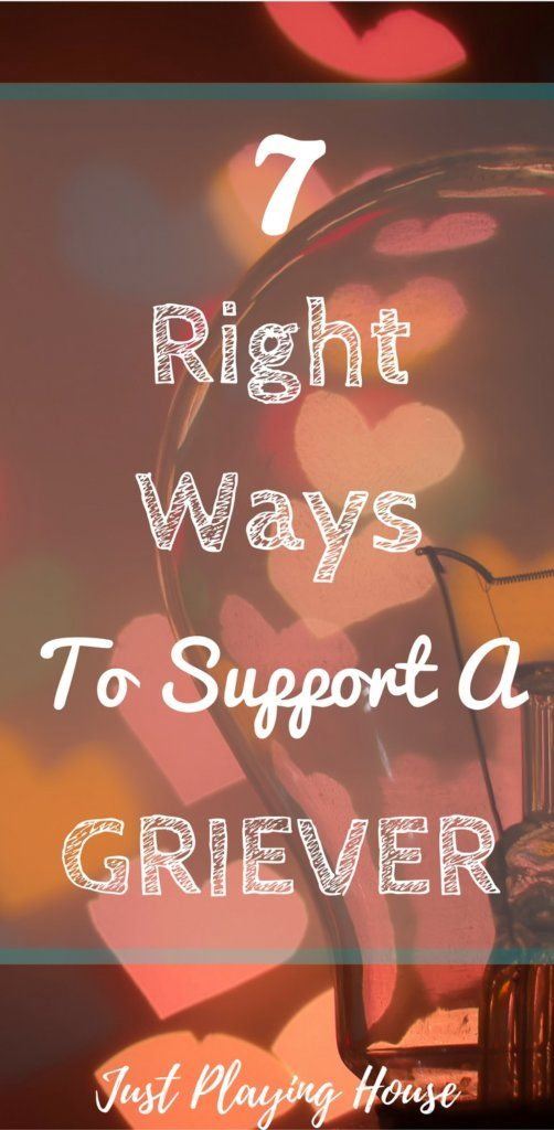 Tips to support a griever after the loss of a loved one. #grief