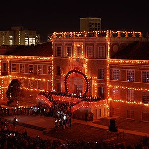Carol of Lights at the Texas Tech University campus!